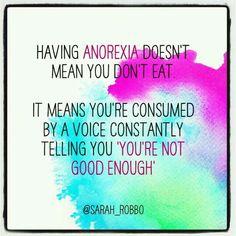 Having an eating disorder...
