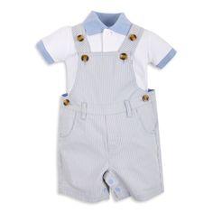 Braga EPK para bebé niño, de rayitas color azul y crema.
