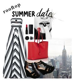 """""""Date With A View"""" by paperdollsq ❤ liked on Polyvore featuring Halston Heritage, BERRICLE, Yves Saint Laurent, Smashbox, NARS Cosmetics, summerdate and rooftopbar"""