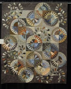 Paper pieced and appliqued beauty from: Quilt Inspiration: Wine Country Quilt Show, made by Kathy