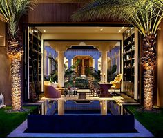 Luxurious design Moroccan home decor with palm