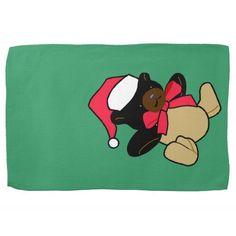 Christmas Bear Kitchen Towel http://www.zazzle.com/christmas_bear_kitchen_towel-197158394081982024?rf=238271513374472230  #christmas   #christmasideas   #towels