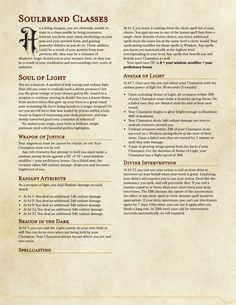 DnD Homebrew — Soulbrand Race/Class by D D Races, Final Fantasy Tactics, Dnd Classes, Dnd 5e Homebrew, Dragon Rpg, Dragon Party, Dungeons And Dragons Homebrew, Tabletop Rpg, Shadowrun