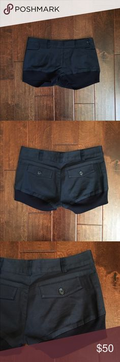 Mason by Michelle Mason Navy Blue Shorts These shorts are perfect for all year round. Four pocket styling, back button pockets. Zip front. Stretchy band at the hem.Super comfortable. These shorts are in excellent condition, you might mistake them for brand new. Open to Offers. Mason Shorts