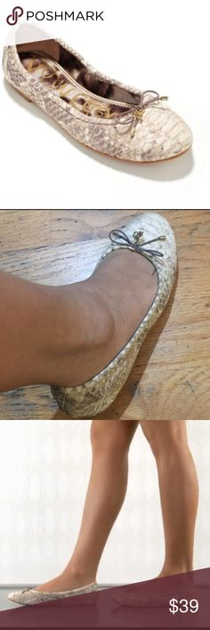 Sam Edelman Flats Shoes This cute snake design ballet flats shoes. Is perfect for casual everyday wear. Size 7M. In good condition. Sam Edelman Shoes Flats & Loafers