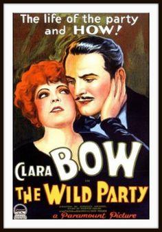 Clara Bow Poster - The Wild Party 1929 by CharmaineZoe