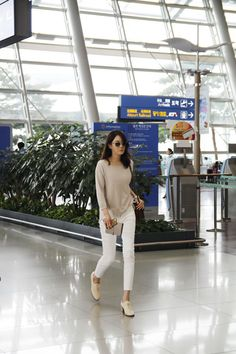 이지아 Incheon Airport going to US - Aug 2014