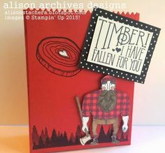 Alison Archives Designs: Wood You Be Mine? Stampin' Up! 2015, Stampin' Up! Valentines, SU! Occasions 2015, Stampin' Up! Mini Treat Bag Thinlits