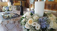 Στολισμός_γάμου_λαμπάδες_γάμου_γαλάζια_ορτανσία