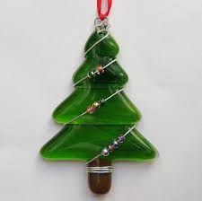 Image result for fused glass christmas decorations