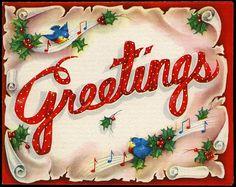Bluebirds send Christmas greetings.