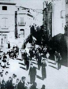 Entrada feixistes Alcanar 15.04.1937