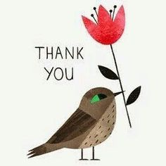 Thank you - Ella Bailey Illustration Thank You Memes, Thank You Wishes, Thank You Greetings, Thank You Messages, Thank You Gifts, Birthday Greetings, Birthday Wishes, Thank You Cards, Birthday Cards