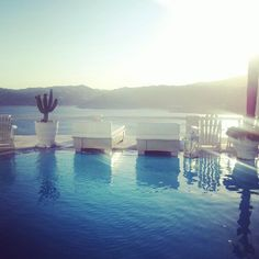 Swimming pool at Greco Philia #Mykonos http://www.ilovetravelling.fr