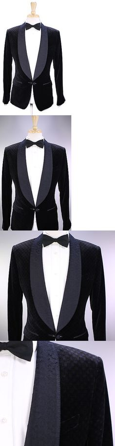Tuxedo and Formal Jackets 105511: Nwt New * Dolce And Gabbana * Black Check Velvet Paisley Shawl Dinner Jacket 38R -> BUY IT NOW ONLY: $895 on eBay!