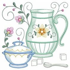 Tea Time Blocks embroidery design