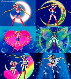 All Sailor Moon Transformation Poses