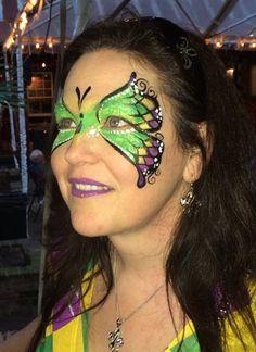 Mardi Gras Face Paint butterfly