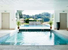 The pool at the Couvent de Minimes in Provence. It's a Relais Châteaux property with a L'Occitane Spa. Yes, please!