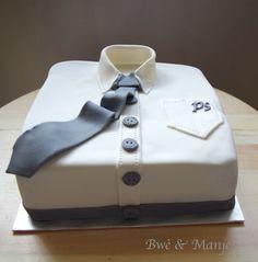Gâteau chemise fête des pères (cake design)