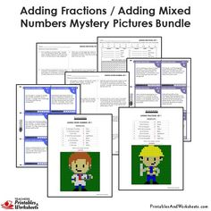 Grade Adding Similar Fractions Mystery Pictures Coloring Worksheets/Task Cards Bundle 4th Grade Fractions, Adding Fractions, 4th Grade Math Worksheets, Fraction Word Problems, Coloring Worksheets, Task Cards, Mystery, This Or That Questions, Printables