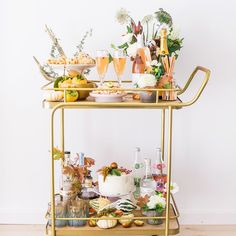 Friendsgiving Open House: Featured on Martha Stewart Living! Bar Cart Styling, Bar Cart Decor, Styling A Buffet, Thanksgiving Table, Thanksgiving Decorations, Canadian Thanksgiving, Fall Table, Holiday Tables, Pumpkin Planter