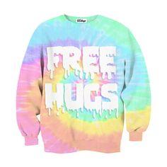 Free hugs sweatshirt by Kollage