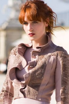 florence. loving those bangs.