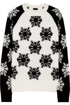 """Joseph"" Snowflake ~=~ Intarsia Wool Sweater [From TheOutnet.com] For All Winter Warm & Fuzzies !! ~:<3"