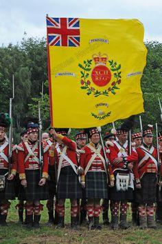 "Regimental colour, 92nd Gordon Highlanders. ""The 92nd will advance!!!"""