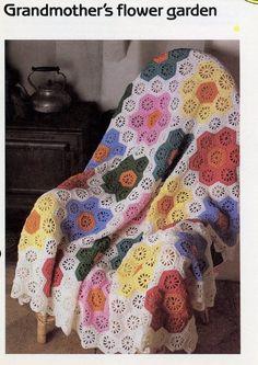 Grandmother's Flower Garden Afghan Cavendish Crochet Pattern/Instructions NEW | Crafts, Needlecrafts & Yarn, Crocheting & Knitting | eBay!