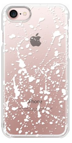 Casetify iPhone 7 Snap Transparent Case - Splat White by Project M - inspired by paint splatter