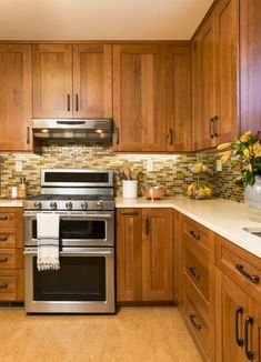 Honey Oak Cabinets Restained With Genera Finishes American