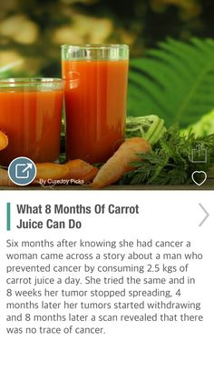 What 8 Months Of Carrot Juice Can Do - via @CureJoy