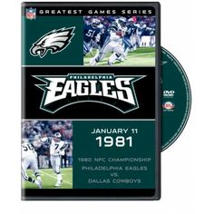 "Nfl Greatest Games Series: 1980 Philadelphia Eagles Vs. Dallas Cow. The 1980 Nfc Championship Game Was The Defining Moment Of The Dick Vermeil Era In Philadelphia. The Game Played At The Vet Against The Vaunted Dallas Cowboys Propelled The Eagles Into Super Bowl Xv. Quarterback Ron Jaworski And Wide Receiver Harold Carmichael Starred As The Eagles Would ""fly High"" To Triumph That Memorable Day Of January 11 1981. Now Eagles Fans Can Relive One Of The Greatest Games In Eagles History Over And…"