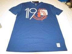 Men's Tommy Hilfiger T shirt NWT V Neck sleeve logo M 7884378 Indigo 984 blue #TommyHilfiger #BasicTeeVneck