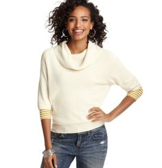 Short Sleeve Cowl Neck Sweater by #LOFT at #mockingbirdstation! Perfect for this cooler weather hitting Dallas!