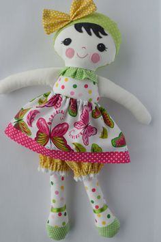 PDF sewing pattern Doll soft toy Dressed doll by GEESPROJECTS