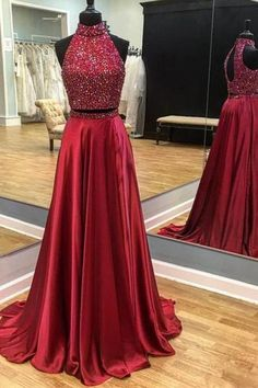 Burgundy Prom Dress,mermaid Prom Dress,two Piece Prom Dress,open Back Evening Dress,beaded Prom Dress Prom Dresses Two Piece, A Line Prom Dresses, Cheap Dresses, Homecoming Dresses, Sexy Dresses, Party Dresses, Dress Long, Long Dresses, Quinceanera Dresses