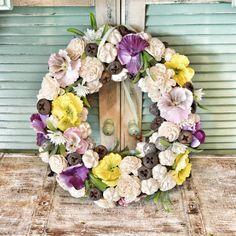 Nyári kopogtató Floral Wreath, Vintage, Home Decor, Floral Crown, Decoration Home, Room Decor, Vintage Comics, Home Interior Design, Flower Crowns