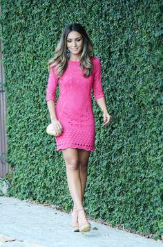 Look do Dia – Vestido de Tricô Pink por Lalá Noleto | blog Lalá Noleto em fevereiro 26, 2014
