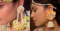 It has been a year where we saw many Bollywood couples getting hitched & wearing gorgeous outfits for the wedding celebrations. But, one common thing that we spotted on the B-town brides wasth. Bridal Jewelry, Beaded Jewelry, Jewellery, Bollywood Couples, One Design, Mehendi, Indian Bridal, Modern Jewelry, Celebrity Weddings
