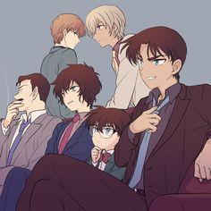 Kogoro & Sera & Hakuba & Amuro & Conan & Heiji by Akiyoshi