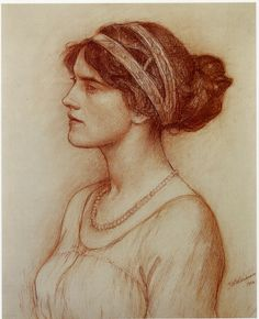 John William WATERHOUSE Study for portrait of the Marchioness of Downshire 1914