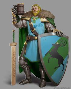 m Paladin Plate Armor Shield Cloak Greatsword Tavern drinking Traveler urban Town Fantasy Warrior, Fantasy Rpg, Medieval Fantasy, Character Concept, Character Art, Concept Art, Character Design, D D Characters, Fantasy Characters