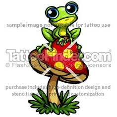 Very cute. Like the mushroom. Could do that instead of a lily pad. Maybe give the frog extra color.