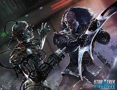 Klingon vs.Borg by MikeGardnerArt.deviantart.com on @DeviantArt