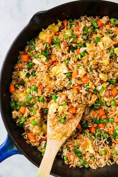 Perfect Fried Rice is part of Homemade fried rice - Fried Rice from Delish com is the best thing to make with your leftover rice Easy Chinese Recipes, Asian Recipes, Healthy Recipes, Ethnic Recipes, Homemade Chinese Food, Homemade Fried Rice, Making Fried Rice, Homemade Recipe, Fried Rice Recipe Chinese