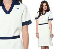 60s Lacoste Dress Mod Mini Preppy Polo Shift 1960s by oldage, $63.00