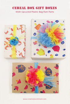 Hanukkah gift wrap craft
